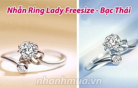 Nhanh Mua - Them phong cach voi Nhan Ring Lady Freesize (Bac Thai S925) - Kieu dang la mat, de ...