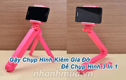 Nhanh Mua - Gay chup hinh, kiem gia do va de chup hinh 3 In 1 doc dao - Chat lieu nhua ben dep ...