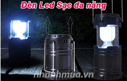 Nhanh Mua - Den Led Sac da nang - Tich hop 2 tinh nang, vua la den vua la sac du phong cho dien...