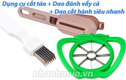 Nhanh Mua - Combo Dung cu cat tao + Dao danh vay ca + Dao cat hanh sieu nhanh – Bo 3 dung cu si...