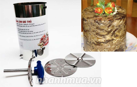 Nhanh Mua - Khuon lam gio 1kg moi - Chat lieu inox ben dep, sang bong va cung cap, tay van bang...