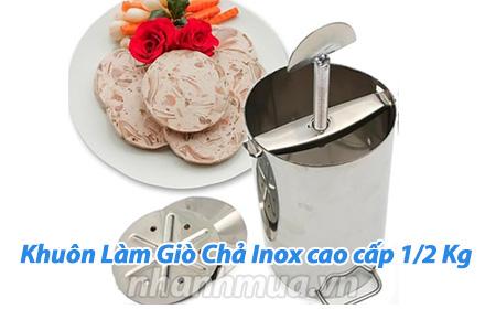 Nhanh Mua - Tro tai noi tro voi Khuon lam gio cha Inox 1/2 Kg - Chat lieu Inox cao cap, bong de...