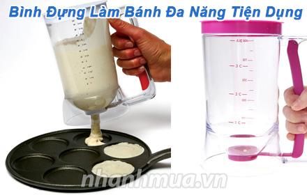 Nhanh Mua - Binh dung lam banh da nang tien dung - Thiet ke khop thong minh giup viec rot bot l...
