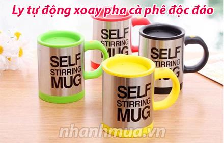 Nhanh Mua - Ly tu dong xoay pha ca phe doc dao - Nhanh, gon, cuc tien dung, don gian de su dung...
