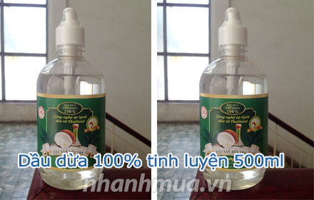 Nhanh Mua - Dau dua Tinh Nguyen 100% tinh luyen 500ml – Cong nghe ep lanh den tu ThaiLand, khon...