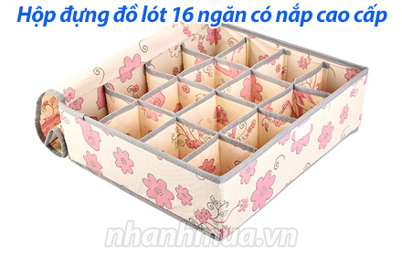 Nhanh Mua - Hop dung do lot 16 ngan co nap cao cap giup ban sap xep do lot cua minh mot cach th...