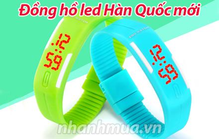 Nhanh Mua - Dong ho led Han Quoc moi - Chat lieu Silicon mem deo, co nhieu nac dieu chinh phu h...