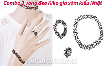 Nhanh Mua - Combo 3 vong deo Kiko gia xam kieu Nhat cho ban gai style chat lu, dang la xu huong...