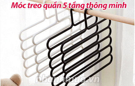 Nhanh Mua - Moc treo quan 5 tang thong minh - Moc treo lam bang nhua PP chac chan, co the chiu ...