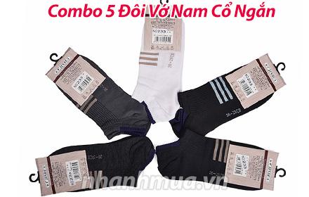 Nhanh Mua - Combo 5 doi vo nam co ngan - Chát liẹu cotton thun 4 chièu co dan tot, thoang ma...