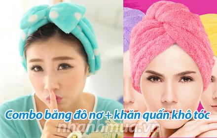 Nhanh Mua - Combo bang do no va khan quan kho toc tien dung, phu hop cho ca nguoi lon va tre em!