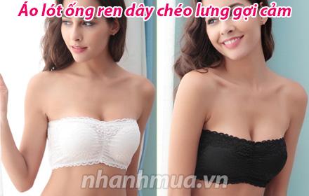 Nhanh Mua - Ao lot ong ren day cheo lung goi cam - Chat lieu ren hoa thun mem mai, co gian 4 ch...