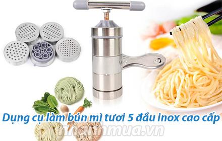 Nhanh Mua - Dung cu lam bun mi tuoi 5 dau inox cao cap - Giup cho cac chi em noi tro co the tu ...