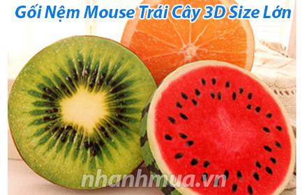 Nhanh Mua - Goi nem Mouse trai cay 3D kieu dang ngo nghinh - Size lon, to diem cho khong gian n...