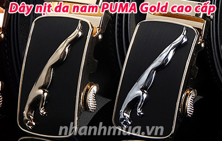Nhanh Mua - Day nit da nam PUMA Gold cao cap - Kieu dang don gian ma manh me, cuc ky sang trong...