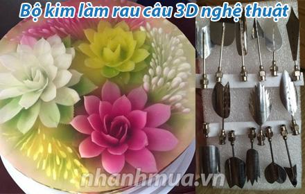 Nhanh Mua - Bo kim lam rau cau 3D nghe thuat - Cho ban thoa suc sang tao, tao hinh hoa tu don g...