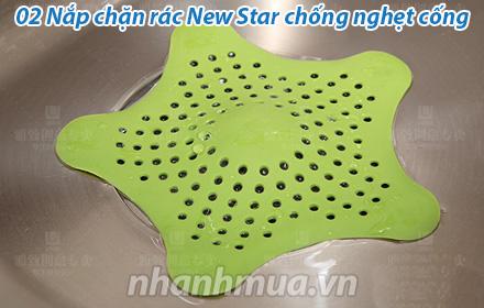 Nhanh Mua - 02 nap chan rac New Star chong nghet cong la phuong phap don gian de giai quyet tin...