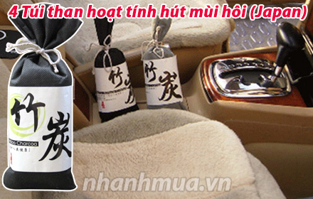 Nhanh Mua - 4 tui than hoat tinh hut mui hoi - Hut am, khu mui, va co kha nang hap thu nhung ph...