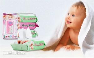 COMBO 04 GÓI KHĂN GIẤY ƯỚT BABY HLP
