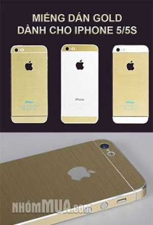 Nhóm Mua - BO MIENG DAN GOLD FULL BODY CHO IPHONE 04 HOAC IPHONE 05