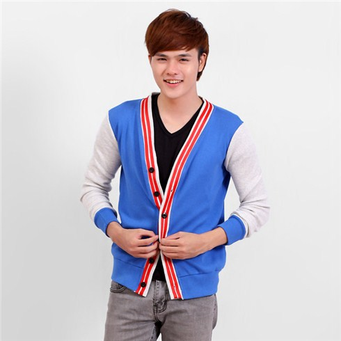 Áo khoác nam cardigan có viền HSCA02