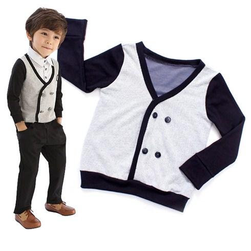 Áo khoác cho bé tay dài phối màu KenKid
