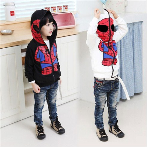 Áo khoác người nhện Spiderman cho bé từ 2 đến 7 tuổi