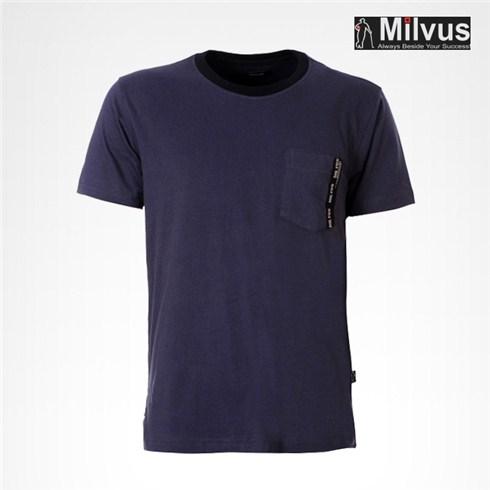 Áo thun T-shirt nam Milvus màu xanh ánh tím 305