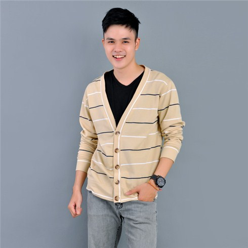 Áo khoác nam cardigan phong cách Hàn Quốc