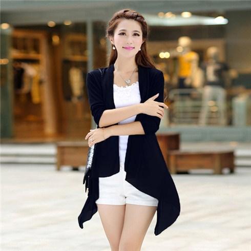 Áo khoác cánh vạt form dài có túi - Thời trang thu đông 2014