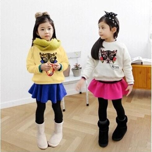 Set quần váy và áo tay dài họa tiết cho bé (từ 2 - 7 tuổi)