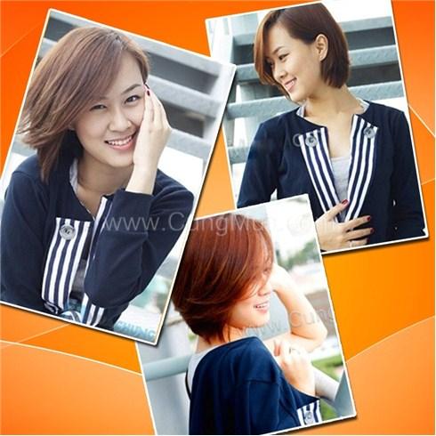 Áo khoác nữ giả vest