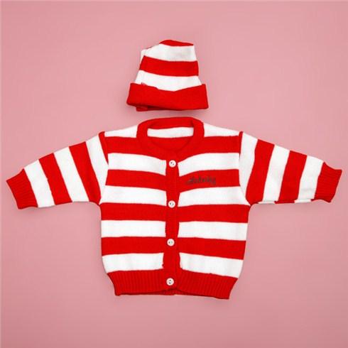 Set áo và nón len cho bé dưới 10 tháng