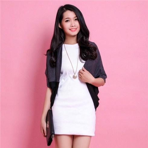 Áo khoác nữ len nhẹ kiểu Nhật cá tính