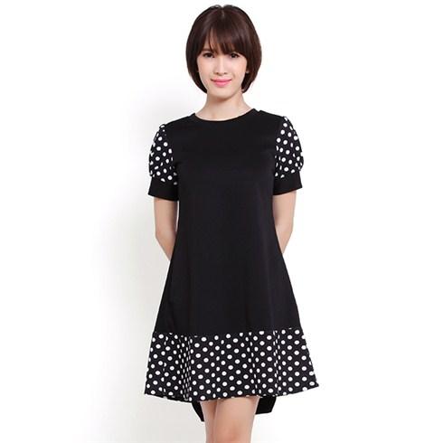 Đầm suông họa tiết chấm bi - Thời trang Misa