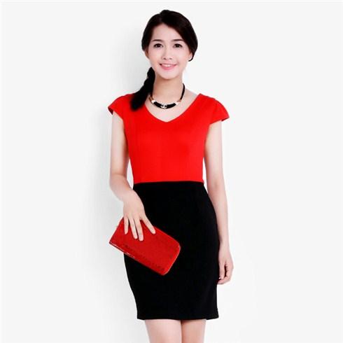 Đầm body Zara phối màu xuất khẩu