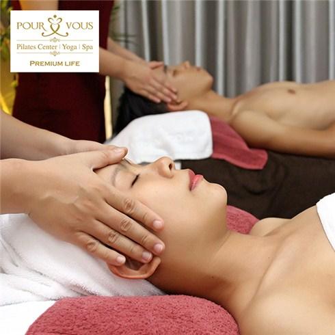 Massage body tinh dầu, chăm sóc da mặt (2 người) - Pour Vous