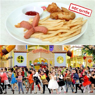 Nhóm Mua - Ve vui choi thoa thich kem suat an hap dan tai Kinder Park Ho Tay
