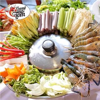 [Tp. HCM] Lẩu tôm bông hậu chua cay dành cho 3 người tại Vương Quốc Tôm, Giá: 247.000đ – Giảm -45%