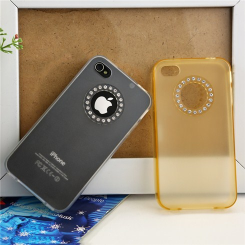 Combo 2 ốp lưng dẻo iPhone 4/4S đính kim cương sang trọng