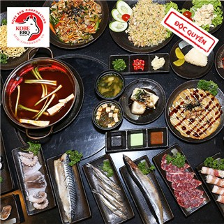 Nhóm Mua - Buffet trua/toi sushi, lau, BBQ kieu Nhat - Nha hang KoBe BBQ