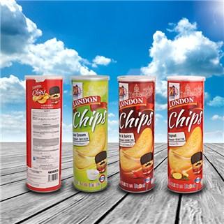 Nhóm Mua - Combo 4 hop snack khoai tay London Chips, nhap khau Malaysia