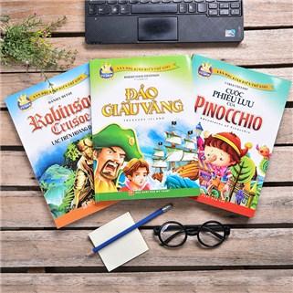 Nhóm Mua - Combo Truyen kinh dien: Dao giau vang, Pinochio, Ronbinson