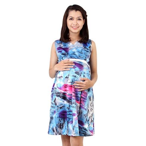 Đầm bầu vằn beo - màu xanh tím
