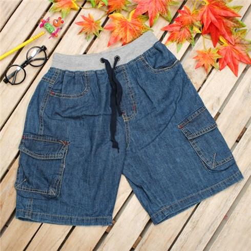 Quần short jeans túi hộp cho bé trai (1 - 8 tuổi)