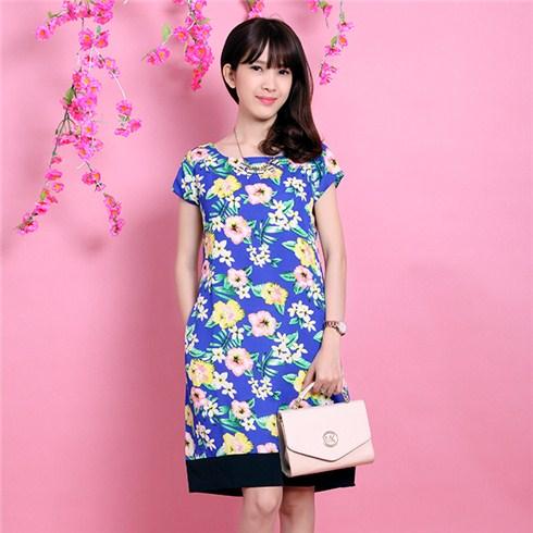 Đầm hoa viền chân Zara xuất khẩu