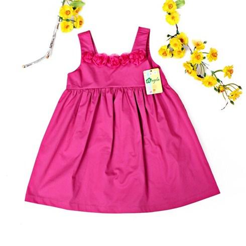 Đầm đính hoa cho bé gái