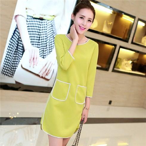 Đầm suông phối 2 túi thời trang - Xu hướng Xuân 2015