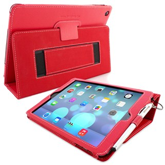Bao da Ipad mini Ipearl Leather case With Stand - Red