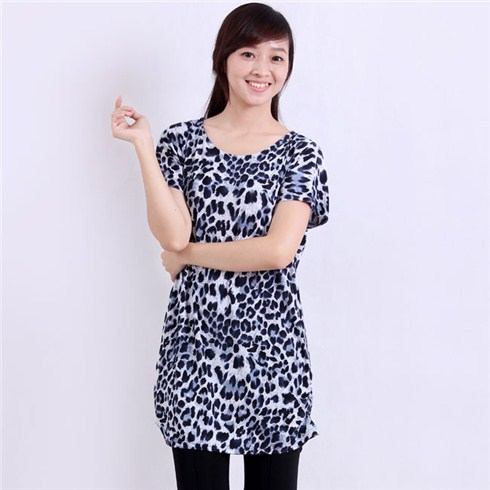Áo thun nữ kiểu da beo Ganzi Korea